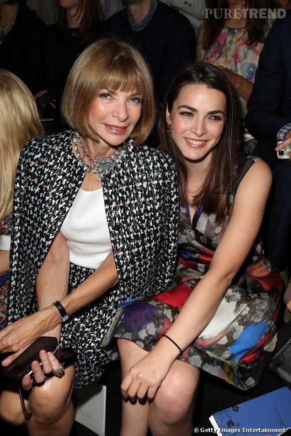 Anna Wintour et Bee Shaffer front row au défilé Christian Dior à Paris.