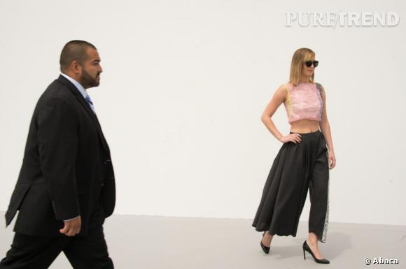 Jennifer Lawrence au défilé Christian Dior à Paris.