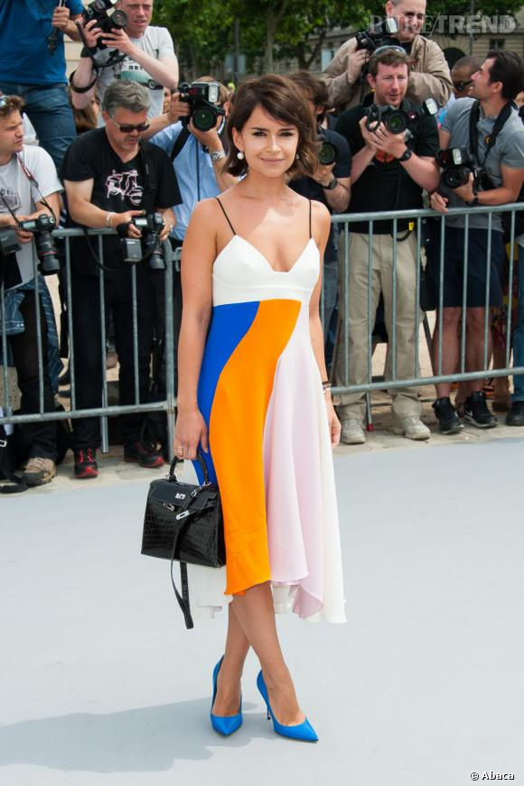 Miroslava Duma au défilé Christian Dior à Paris.