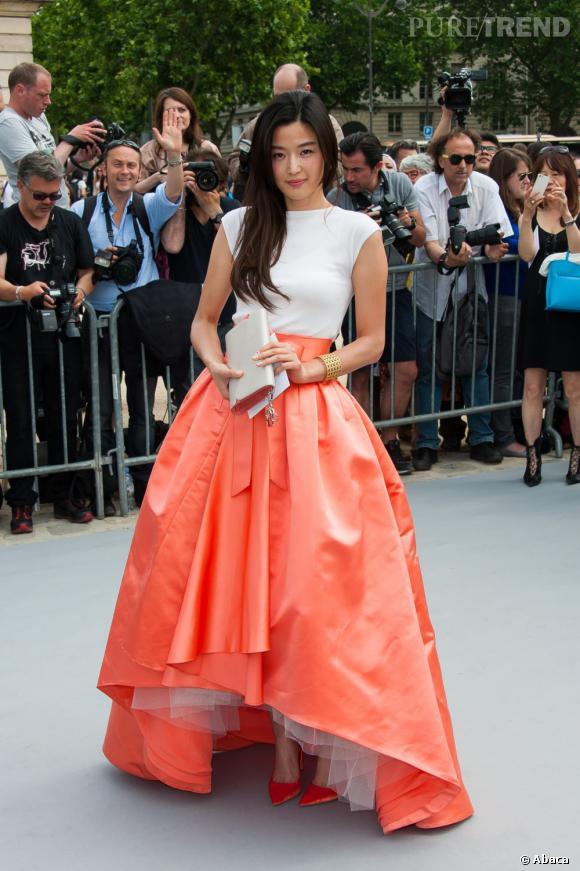 L'actrice chinoise Xu Jinglei au défilé Christian Dior à Paris.