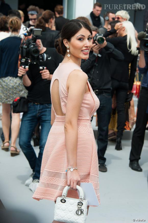 Yasmine Besson au défilé Christian Dior à Paris.