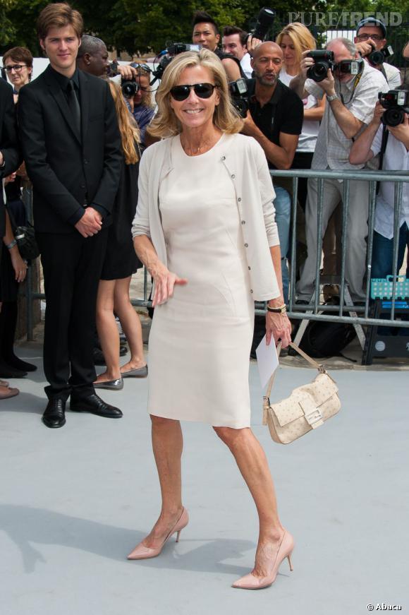 Claire Chazal au défilé Christian Dior à Paris.