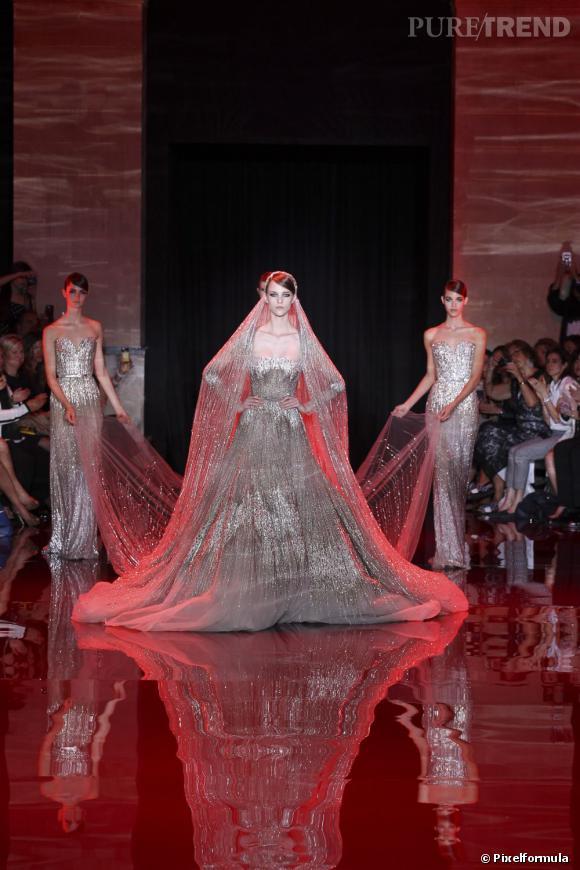 Haute Couture : les robes de mariées Automne-Hiver 2013/2014 Défilé Elie Saab