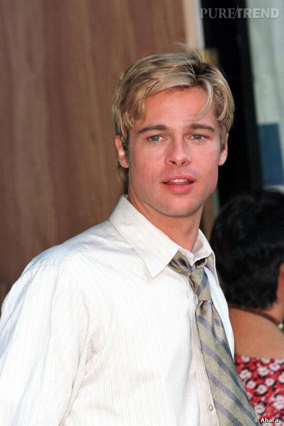 Le top blond comme les blés   : brillants, savamment décoiffés, Brad et ses épis nous enflamment.