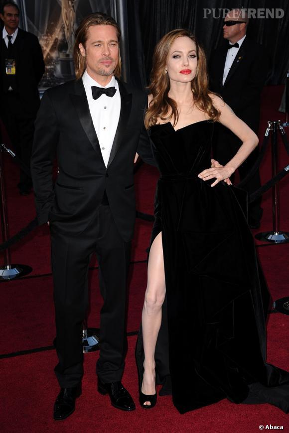 Le flop apparition en duo  : La jambe d'Angelina Jolie leur pique la vedette aux Oscars !