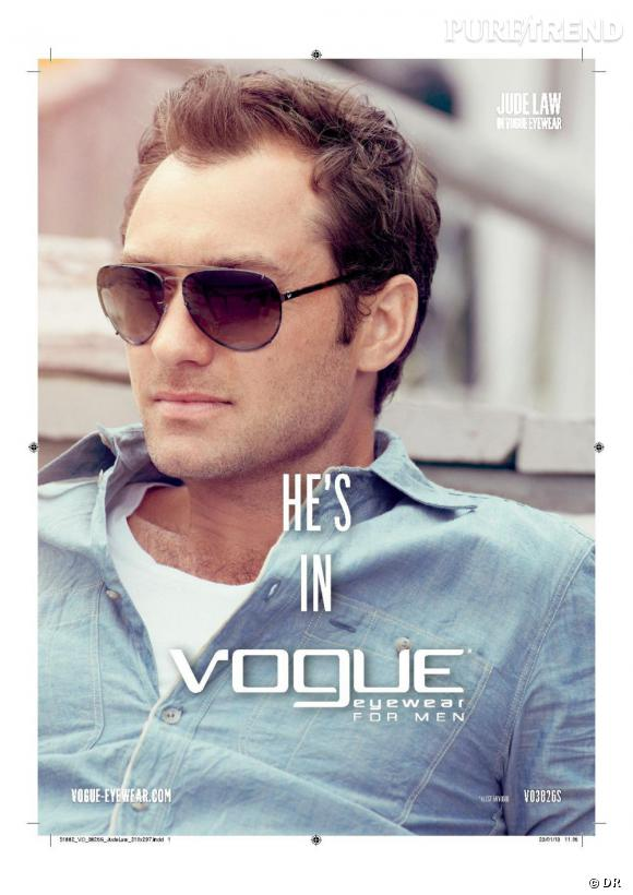 Jude Law, le mâle de Vogue Eyewear cette année.