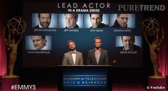 Aaron Paul et Neil Patrick Harris viennent d'annoncer les nominations pour les Emmy Awards 2013.