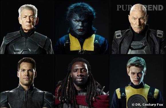 """Omar Sy (milieu/ bas) dans la peau de Lucas Bishop pour """"X-Men : Days of the future past""""."""