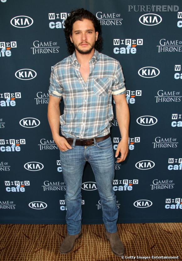 "Kit Harrington (Jon Snow dans ""Game of Thrones"") au Comic-Con 2013 à San Diego."