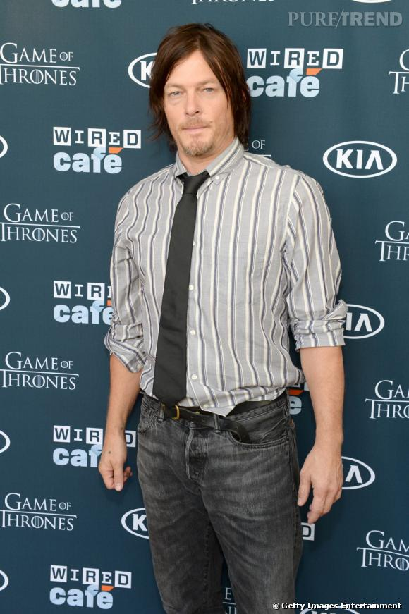 "Norman Reedus (""The Walking Dead"") au Wired Café du Comic-Con 2013 à San Diego."