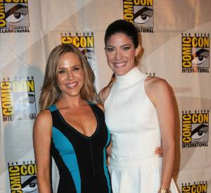 Julie Benz et Jennifer Carpenter au Comic-Con 2013 à San Diego.
