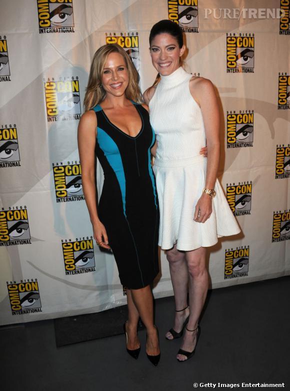 Julie Benz et Jennifer Carpenter au Comic-Con 2013 à San Diego.