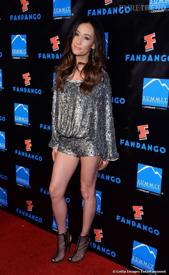 """Maggie Q à la soirée """"Divergent"""" du Comic-Con 2013 à San Diego."""