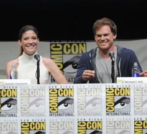"""Michael C. Hall et Jennifer Carpenter pour """"Dexter"""" au Comic-Con 2013 à San Diego."""