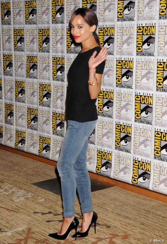 Zoë Kravitz au Comic-Con 2013 à San Diego.