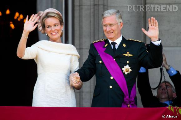 La reine Mathilde et le nouveau roi des Belges, Philippe.