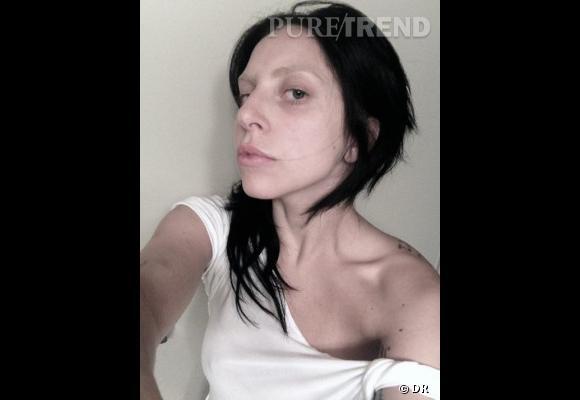 Lady Gaga sans maquillage. On l'a vue plus à son avantage.