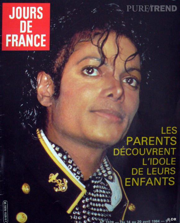 Jours de France  daté d'avril 1984 avec en Une Michael Jackson.