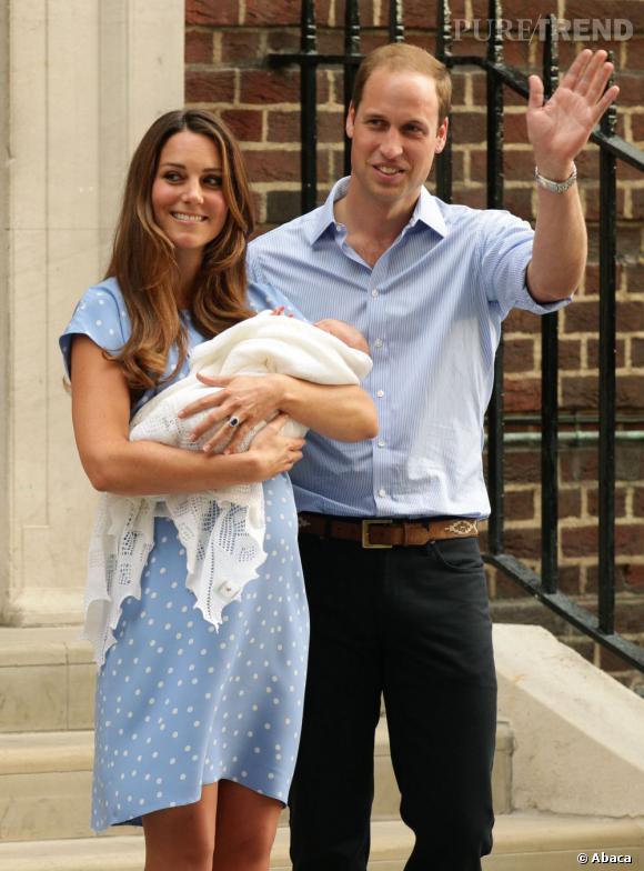 Kate Middleton et Prince William : leur fils s'appelle George.