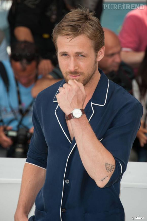 """Ryan Gosling lors du photocall de """"Drive"""" à Cannes en 2011."""