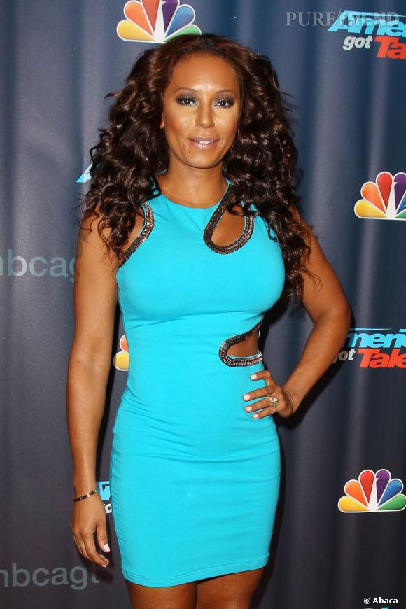 Melanie Brown sur la tapis rouge pour Americas Got Talent à New York.