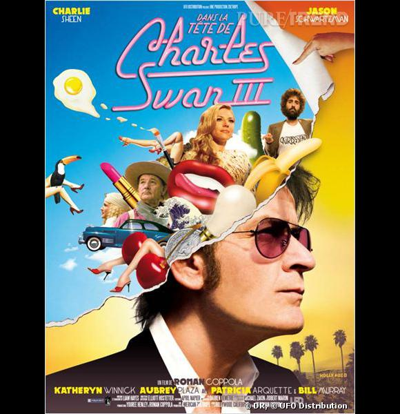 """""""Dans la tête de Charles Swan III"""" avec Charlie Sheen, Katheryn Winnick et Jason Schwartzman."""
