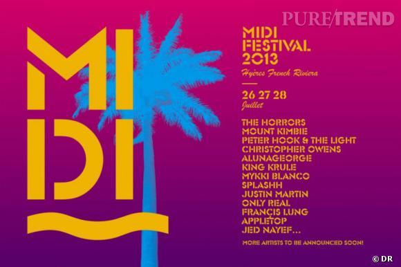 Midi Festival à Hyères, du 26 au 28 juillet 2013.