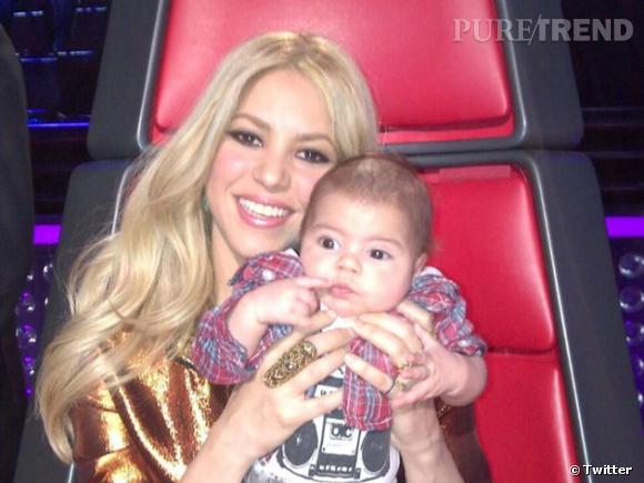 Milan et sa maman Shakira.