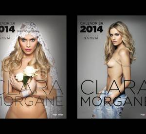 Clara Morgane, mariee hot et topless pour son calendrier 2014
