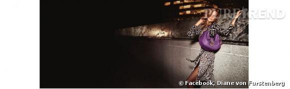 Campagne de l'Automne-Hiver 2013/2014 de Diane von Furstenberg avec Daria Werbowy.