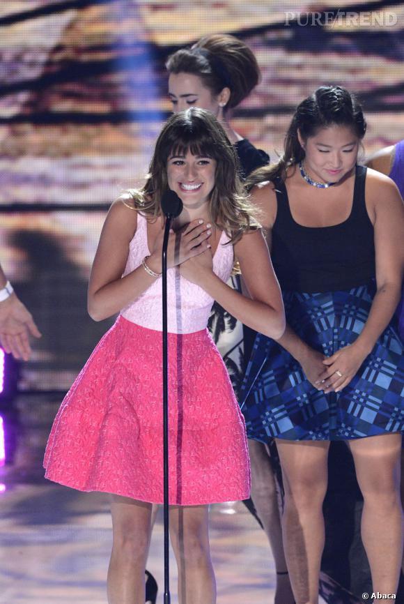 Lea Michele aux Teen Choice Awards a remporté le prix de la meilleure actrice dans une comédie.