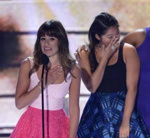 Lea Michele : les larmes aux yeux pour un hommage a Cory Monteith aux Teen Choice Awards 2013