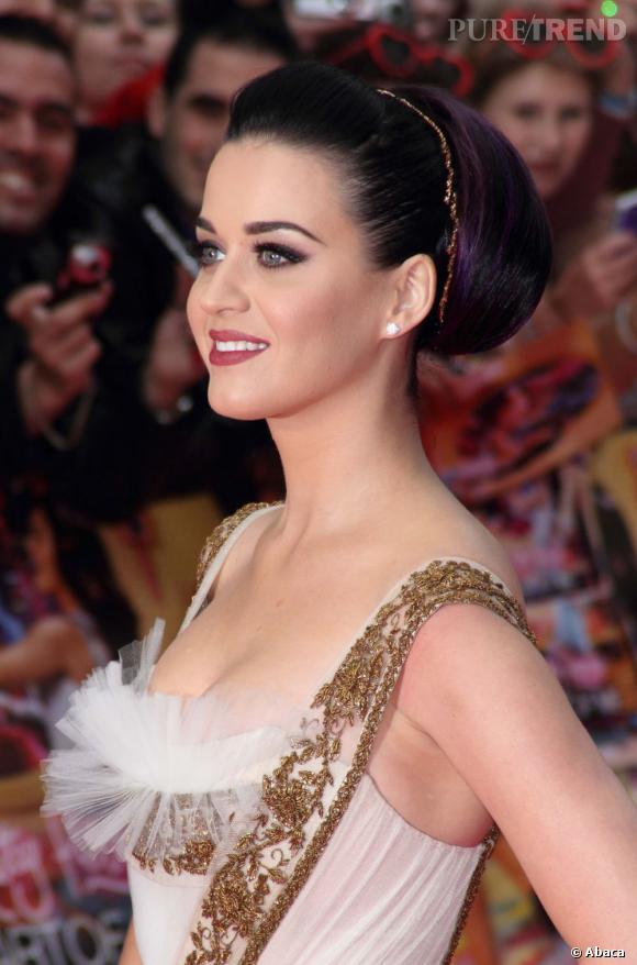 Katy Perry en cache un peu avec du tulle. Un tout petit peu.