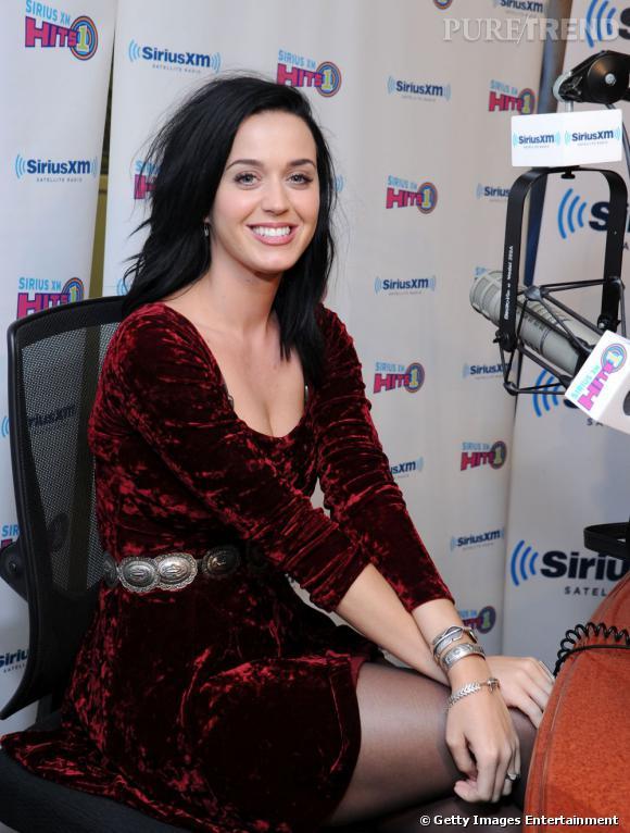 Katy Perry dans les studios de la radio SiriusXM à New York le 12 août pour débuter la promotion de son nouveau single Roar.