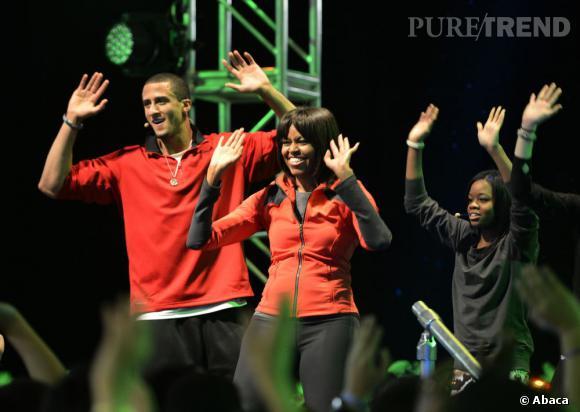 Michelle Obama se lance dans le hip hop, enfin presque.