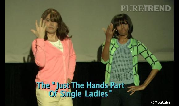 """Michelle Obama nous prouve que le ridicule ne tue pas sur le plateau de l'émission """"Late Night with Jimmy Fallon"""" pour soutenir sa campagne """"Let's Move""""."""