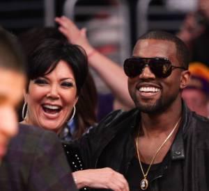 Kanye West sur le plateau du talk show de Kris Jenner.