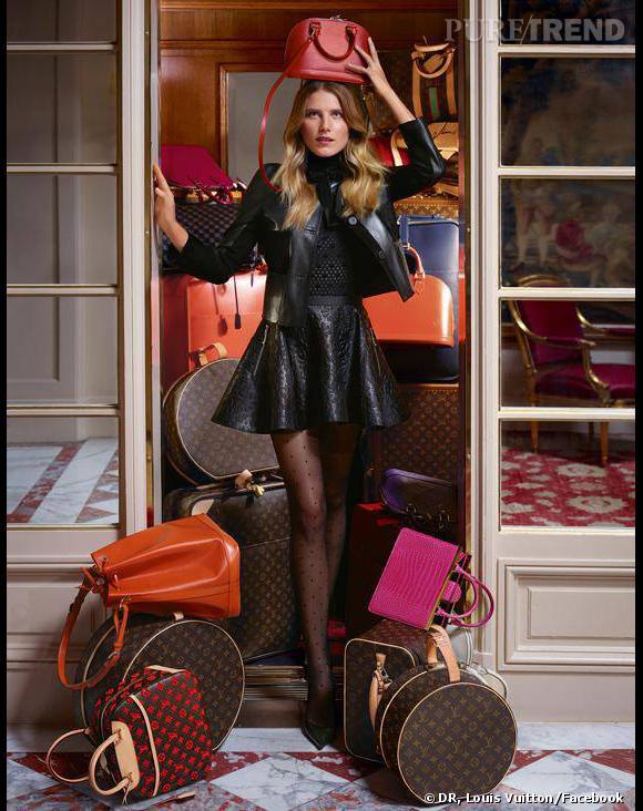 Dree Hemingway, égérie mutine pour Louis Vuitton.