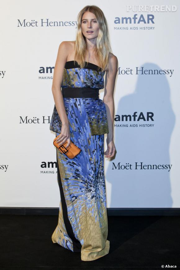 Dree Hemingway, sublime lors de la Fashion Week milanaise Printemps-Eté 2013.