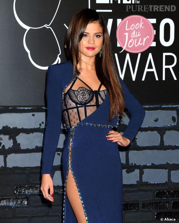 Selena Gomez aux MTV VMAs à New York.