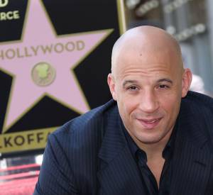 Vin Diesel reçoit son étoile sur le Walk of Fame à Hollywood.