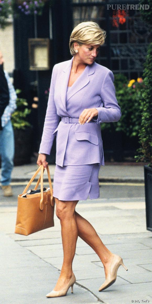 Lady Diana avec le D. Bag de Tod's.