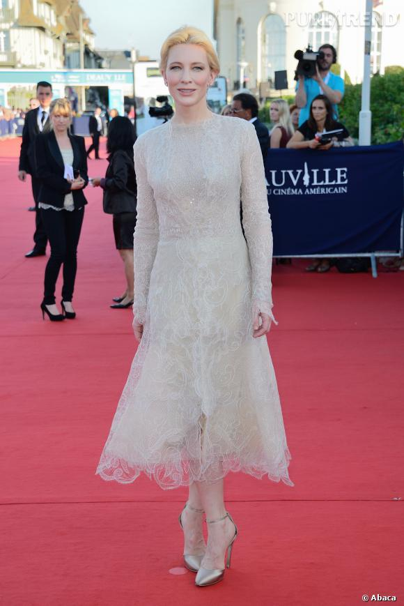 Cate Blanchett lors de la cérémonie d'ouverture de Deauville 2013.