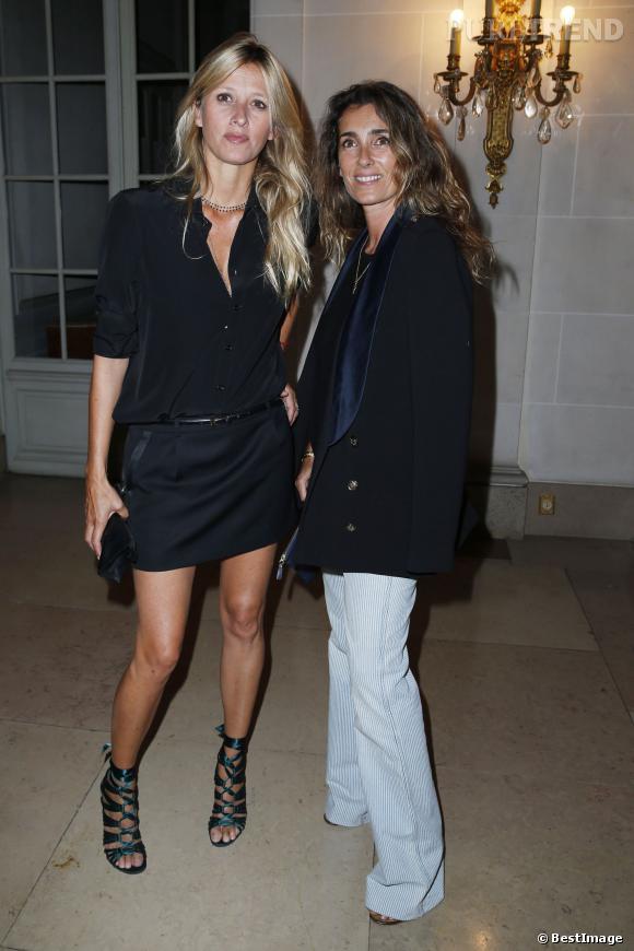 Mademoiselle Agnès et Sarah Lavoine à la soirée de lancement du magazine pour hommes LUI le 3 septembre 2013.