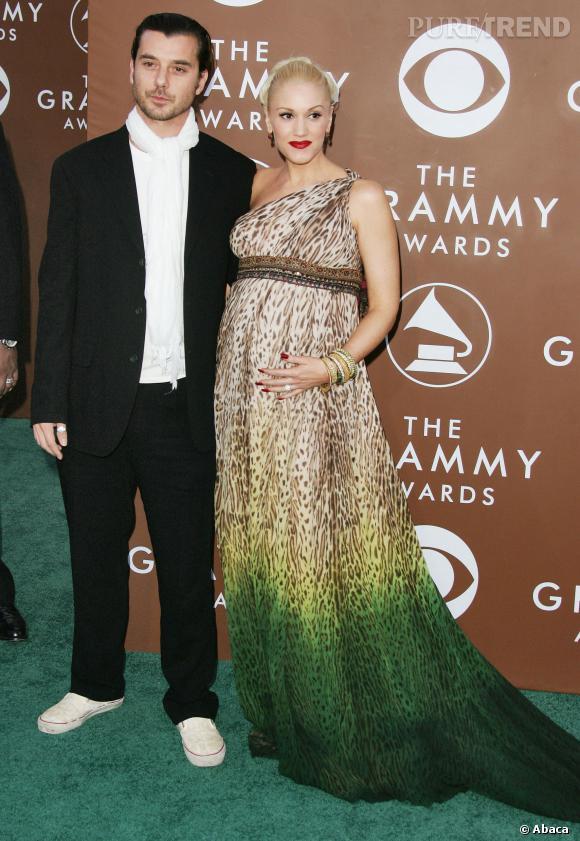 Gwen Stefani et Gavin Rossdale lors de la première grossesse de la jeune femme en 2006.