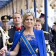 La Reine Maxima des Pays Bas sublime en bleu électrique pour son couronnement.