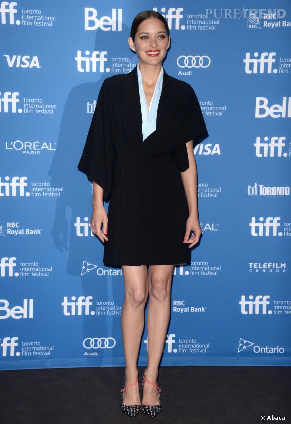 "Marion Cotillard au photocall de ""Blood Ties"" au Festival International du Film de Toronto."