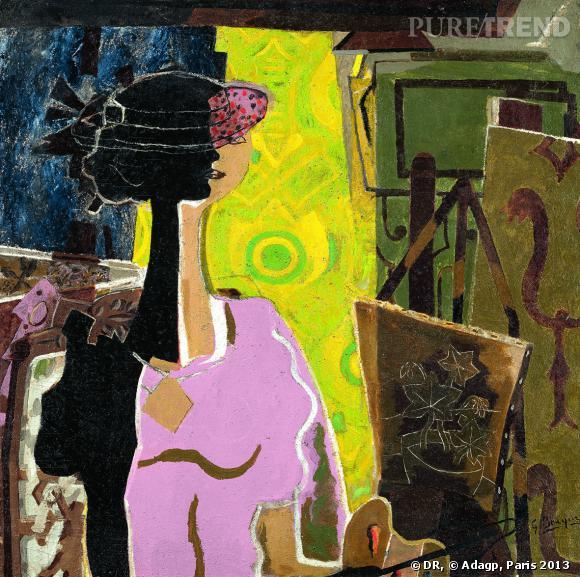 """Georges Braque """"Femme à la palette"""" 1936. Lyon, musée des Beaux-Arts, legs de Jacqueline Delubac, 1997."""