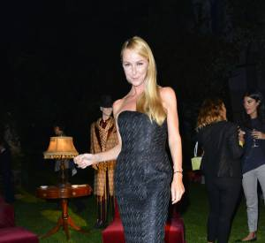 "La créatrice Frida Giannini à l'inauguration de l'exposition ""Beauty in Wonderland"" au Palazzo Casa Degli Atellani à Milan."