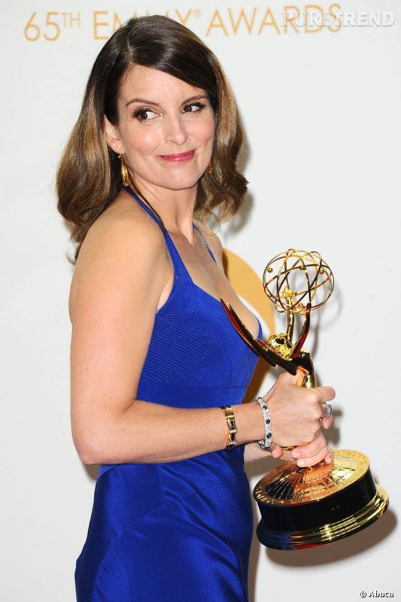 """Tina Fey gagne un prix pour l'écriture d'un épisode de """"30 Rock"""" aux Emmy Awards 2013."""